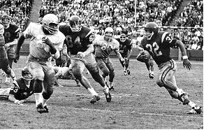 Southern Cal running back O. J. Simpson's 64 yard touchdown run to beat UCLA 21-20 in 1967